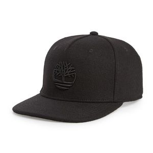 New Timberland logo embroidered hat in black